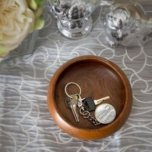 Wooden Wood Catch-All Bowl